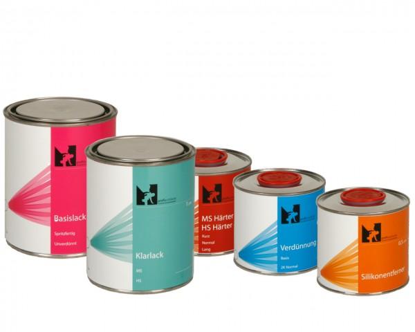 profiautolacke 1 Liter Wasser-Basislack-Klarlack Komplettpaket
