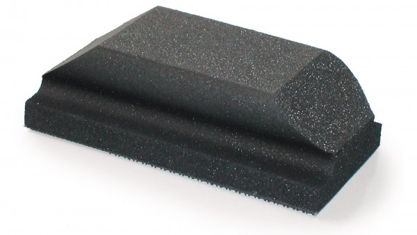 Mirka Handblock ohne Absaugung 70 x 125 mm Moosgummi/weich mit Griffmulde Grip ungelocht (1Stk)