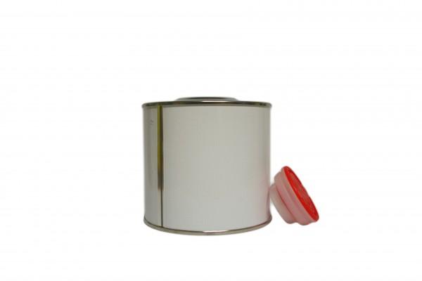 Schraubdose blank mit Verschluss (0,5 Liter)