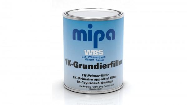 Mipa WBS 1K-Grundierfiller ca. RAL 7011 dunkelgrau (1l)