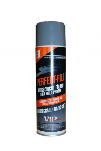 VIP Perfect-Fill - Dickschichtfüller für Kunststoff und Metall dunkelgrau (450 ml)