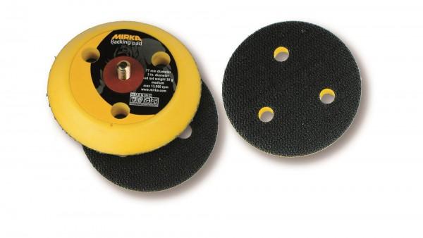 """Mirka medium Abranet Grip-Teller (PU) Ø 77 mm 1/4"""" Gewinde, inkl. Schutzauflage Grip 6-Loch (1Stk)"""