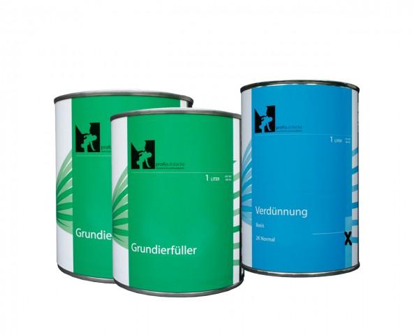3l Komplettpaket profiautolacke - 1K Grundierfüller beige (2l Grundierfüller, 1l Verdünnung)