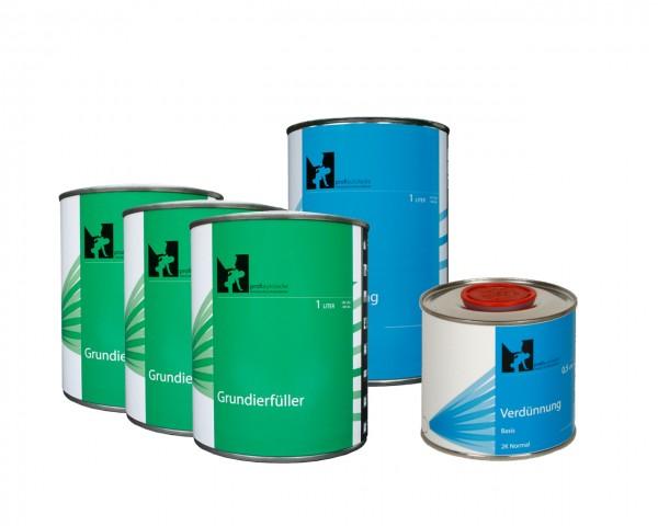 4,5l Komplettpaket profiautolacke - 1K Grundierfüller beige (3l Grundierfüller, 1,5l Verdünnung)